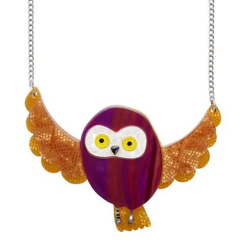 """Erstwilder Collectable Spark the Owl Necklace. """"Once again the powers of the forest open up the mind. Seek deep inside tell me what you find."""""""
