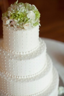 Clearwater Wedding by Stephanie A. Smith Photography.  Cake with Swiss dots by Publix.