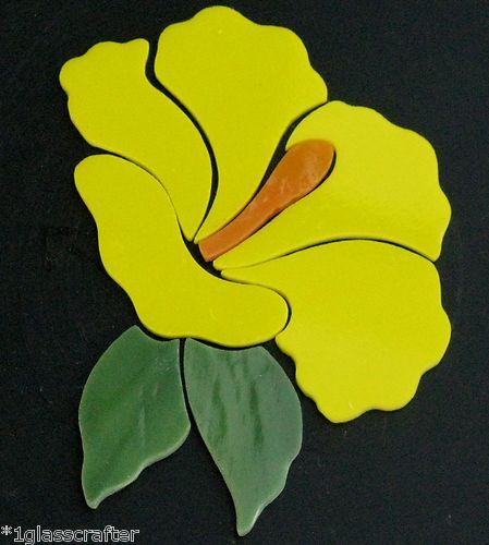 Hibiscus flower stained glass precut kit. Selling on eBay or contact me directly rachellkratzer@aol.com