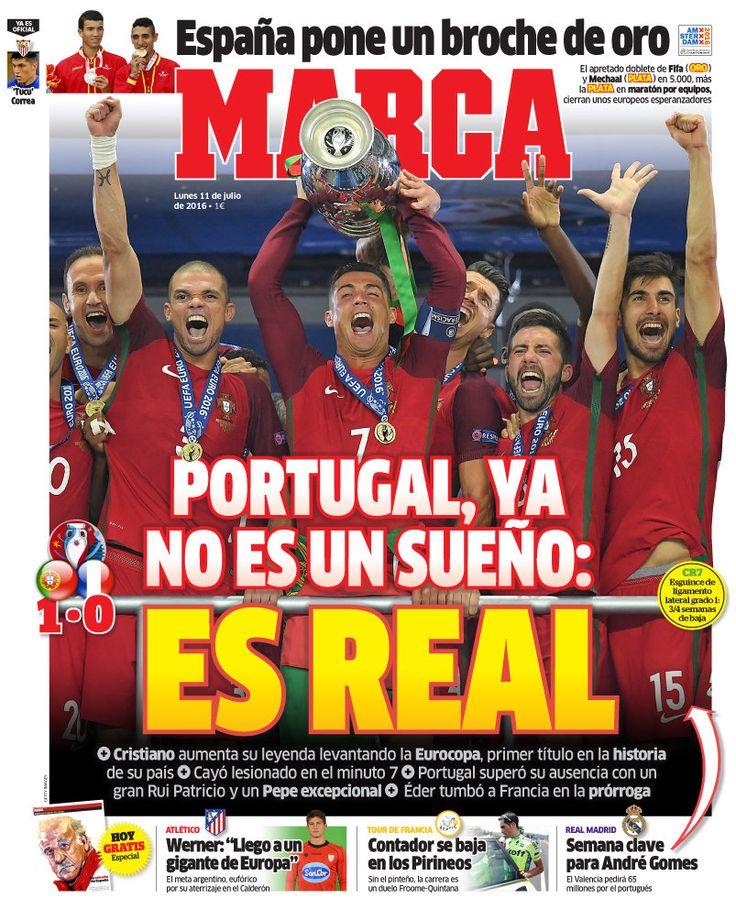 Portugal enche as primeiras páginas