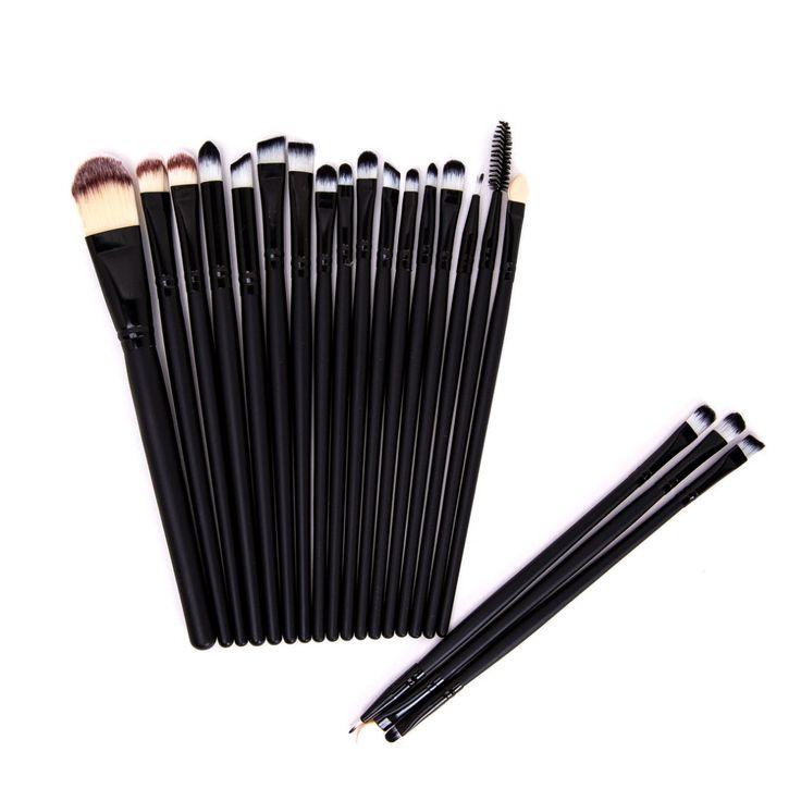 Black Eye Make-up Brush Set (20pc), 53% discount @ PatPat Mom Baby Shopping App