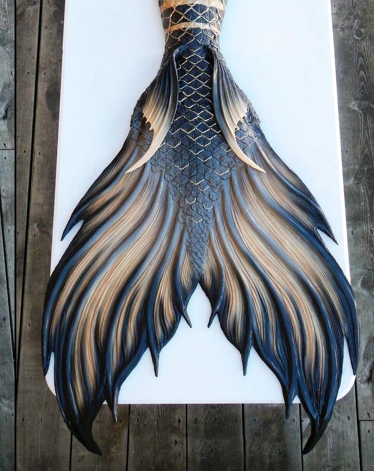 Finfolk Productions Silicone Mermaid Tail Black Gold Calypso   eBay