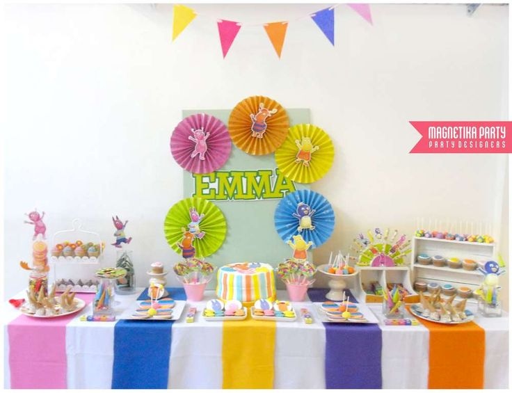 Backyardigans girl birthday party dessert table!  See more party planning ideas at CatchMyParty.com!