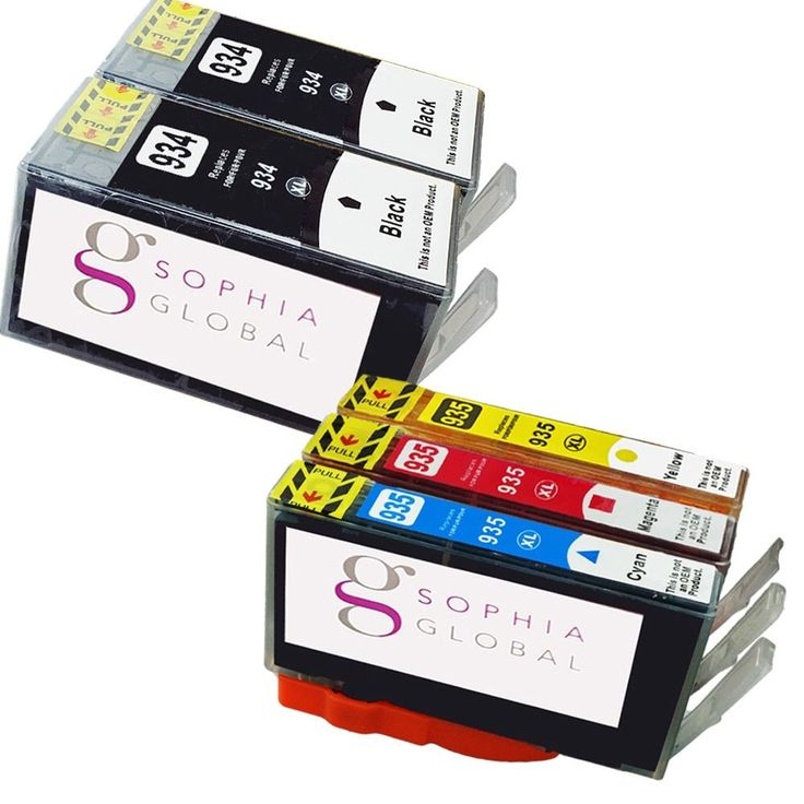 Sophia Global Compatible Ink Cartridge Replacement for HP 934XL and HP 935XL