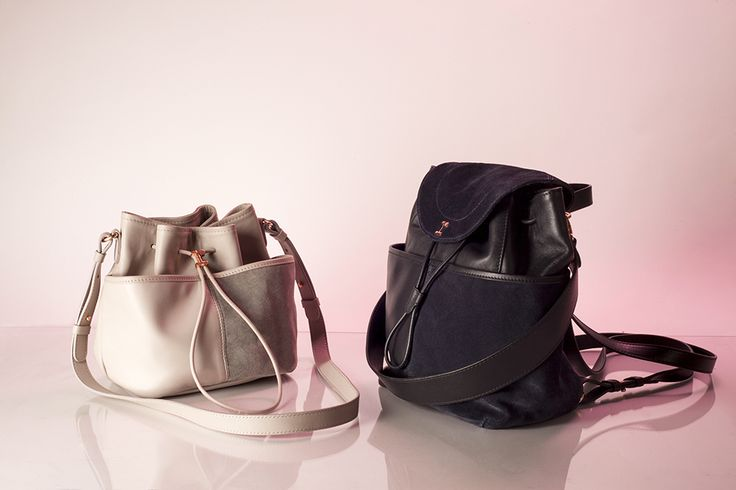 Contretemps Hobo in Lama grey: http://bit.ly/1gTFI7n & Petit Contretemps Backpack: http://bit.ly/1MML2rO - Collection fall-winter 2015