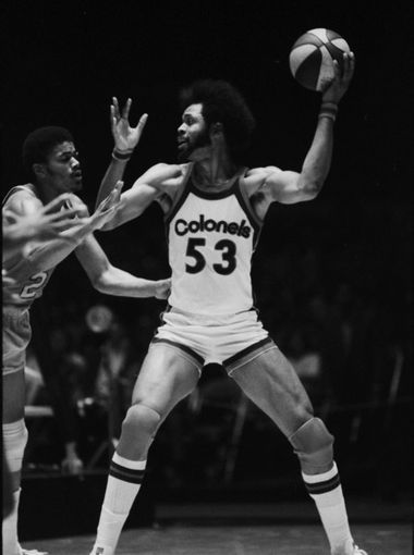 Kentucky Colonel Artis Gilmore handled the ball against