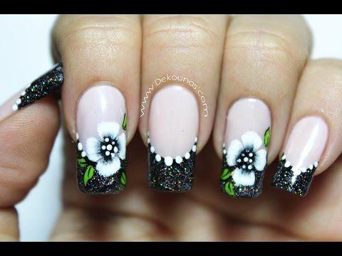 Decoración de uñas flores en pinceladas para principiantes   DEKO UÑAS   Moda en tus uñas
