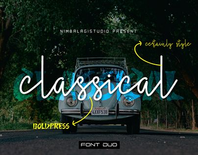 """Check out new work on my @Behance portfolio: """"Classical - Font Duo"""" http://be.net/gallery/51002649/Classical-Font-Duo"""