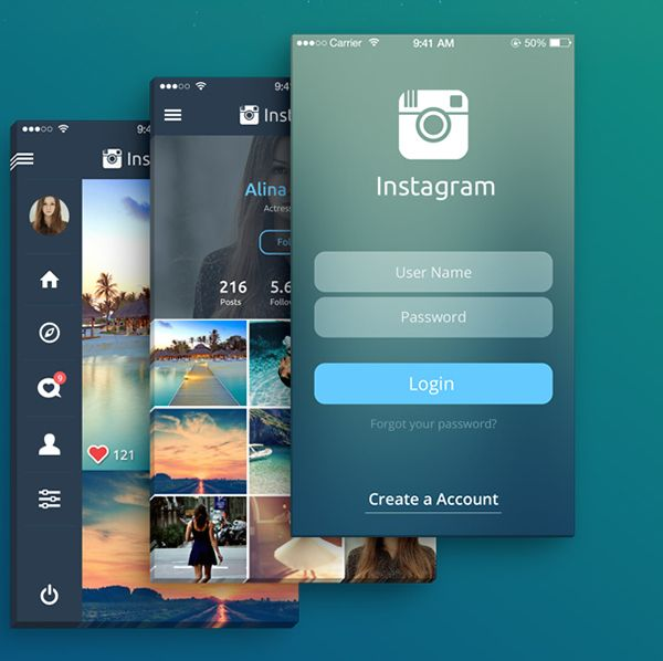 redesign application instagram 1