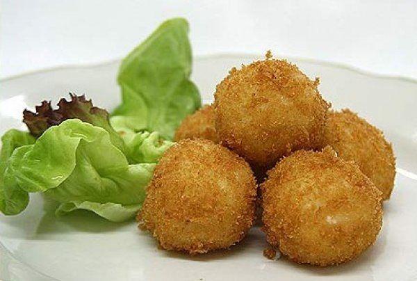 Potato croquettes with mushrooms