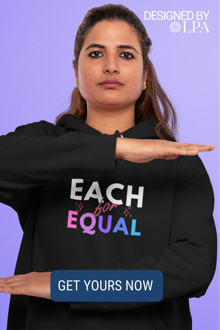 Color gradient Each for Equal Hoodie in 2020
