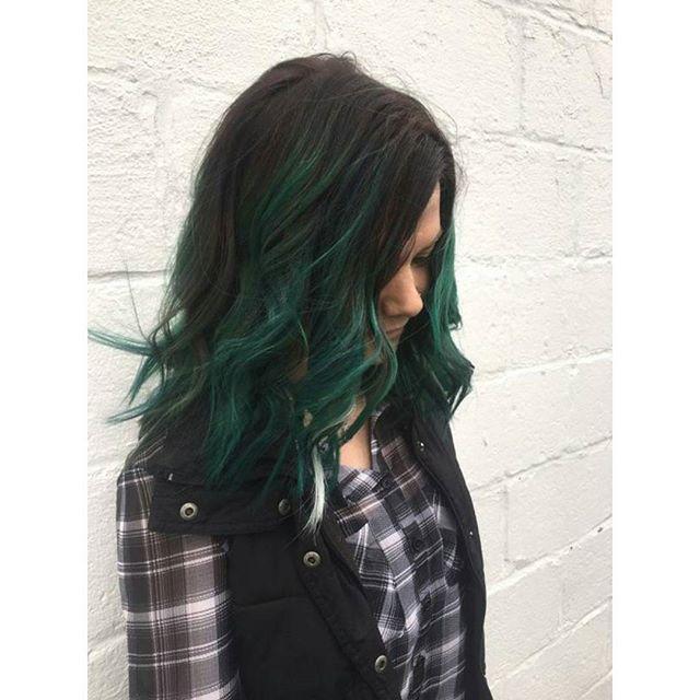 black hair ombre green wwwpixsharkcom images
