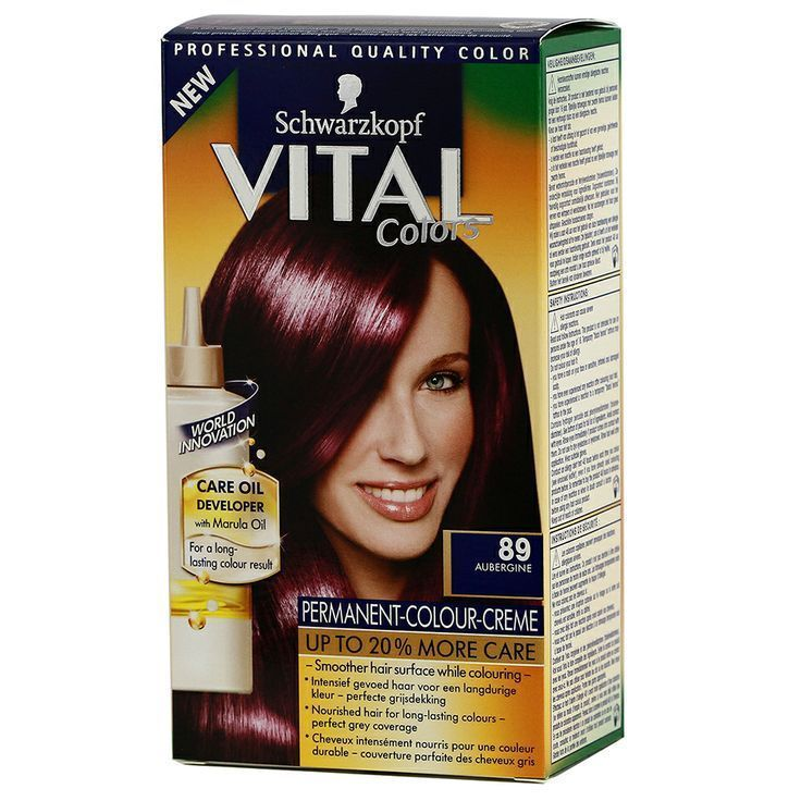 coloration schwarzkopf vital color n89 aubergine neuf - Coloration Schwarzkopf