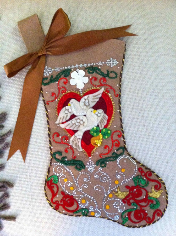 21 Best Images About Felt Christmas Stockings On Pinterest