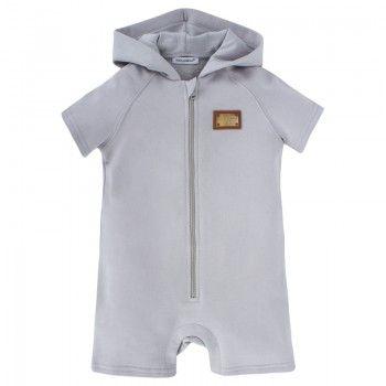 Grey Jersey Hooded Shortall | AlexandAlexa