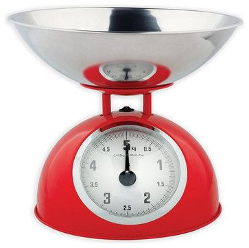 Red Retro Mechanical Kitchen Food Scale Traditional Kitchen Products