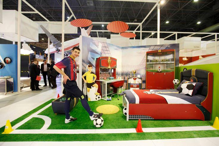 Dormitorio de la serie Fútbol de Cilekspain, dormitorios temáticos