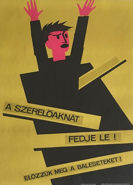 Szi_-_Cover_the_inspection_pits_1966_original_Hungarian_vintage_workers'_safety_propaganda_poster.jpg (430×600)