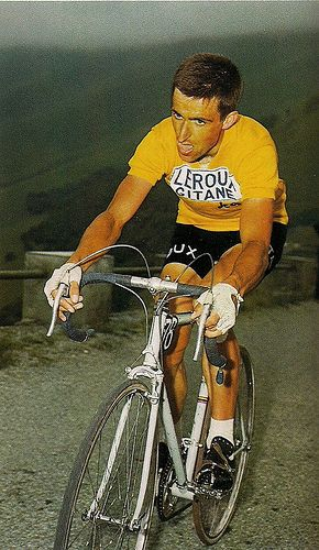 Tom Simpson rode professionally from 1959 to 1967. He died at age 29 while cycling.