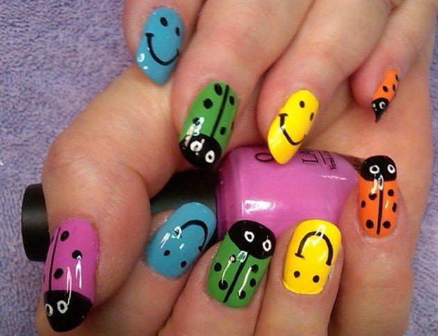 what makes ya happy by aliciarock - Nail Art Gallery nailartgallery.nailsmag.com by Nails Magazine www.nailsmag.com #nailart