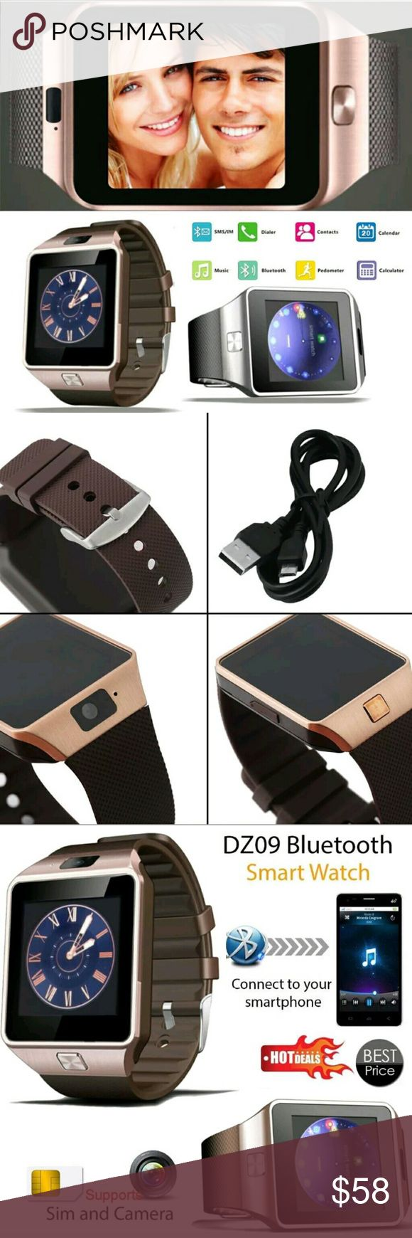 Classy Multifunctional Bluetooth SIM Smartwatch √GSM UNLOCKED √Pedometer  √Monitor your sleep quality  √Search your watch for contacts  √Add contacts directly to your watch  √Anti-lost Technology √Alarm Clock √Calendar √File manager √Facebook √Audio player (Mp3) √FM Radio  √WhatsApp √Camera & picture storage  √Bluetooth Dialer, Call logs Message,  √MTK6261, DZ09 √RAM + ROM: 32MB RAM + 32MB ROM, TF Card up to 32GB  Compatible: Samsung Galaxy S7 and other Android smartphones + iPhone and iOS…