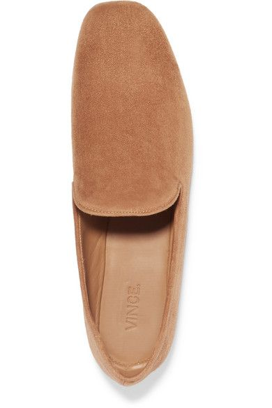 Heel measures approximately 10mm/ 0.5 inches Tan suede Slip on Designer color: Cedarwood Made in Italy