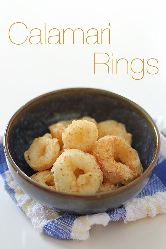 The Little Teochew: Singapore Home Cooking: Calamari Rings