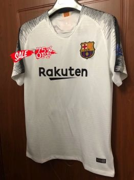 f15bbb2b2 2018-19 Cheap Pre-Match Jersey Barcelona Replica White Training Shirt   CFC742