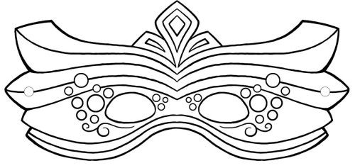 Mardi Gras Mask With A Great Coloring Page