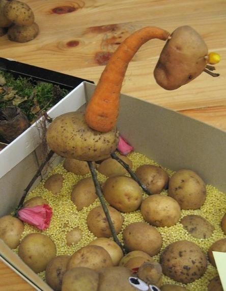 Potato and Carrot Giraffe