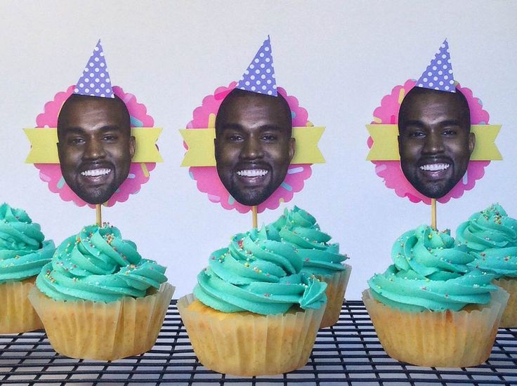 Cupcakes with Kanye West Cupcake Toppers. Cupcakes by Sweet Tooth CPT https://www.facebook.com/sweettoothcpt Cupcake Toppers by Happy Time CPT https://www.facebook.com/happytimecpt Photo by Willem Lourens