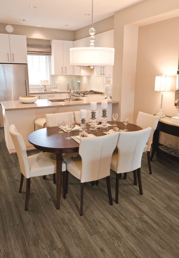 Sala e cozinha integrados note table size63 best COREtec Plus Engineered Luxury Vinyl Tile   Plank Flooring  . Flooring For Dining Room. Home Design Ideas