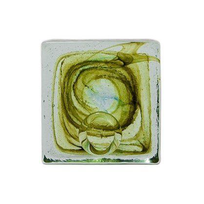 Przycisk szklany do papieru, olive