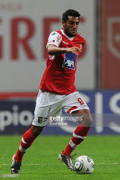 Carlao of SC Braga in action during the Liga Portugal match between SC Braga and CD Nacional at the Estadio Municipal de Braga on September 25 2011...