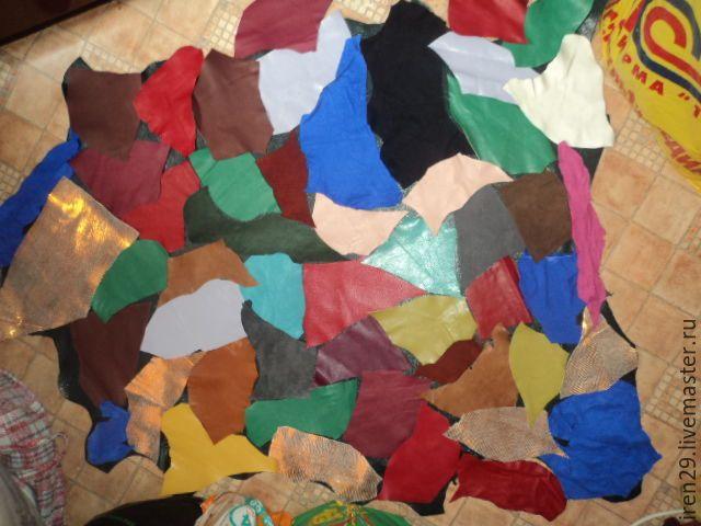 """Купить Натуральная кожа """"Лоскут для цветов"""" - тёмно-синий, коричневый, зеленый, тёмно-зелёный, розовый"""