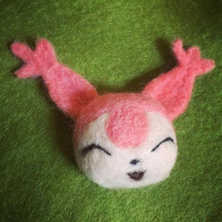 Skitty Kitty, needle felt pokemon