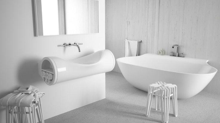 Évier salle de bain de design ultra moderne par Laufen