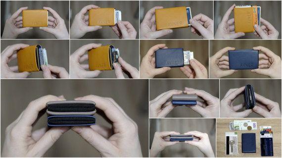 New Generation Nero Wallet - 30% Thinner - Ultra Slim Minimalist Wallet, Mens Wallet, Leather Wallet, Womens Wallet, RFID Blocking