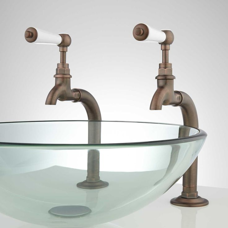 Romanova Bathroom Basin Taps with Pop-Up Drain -