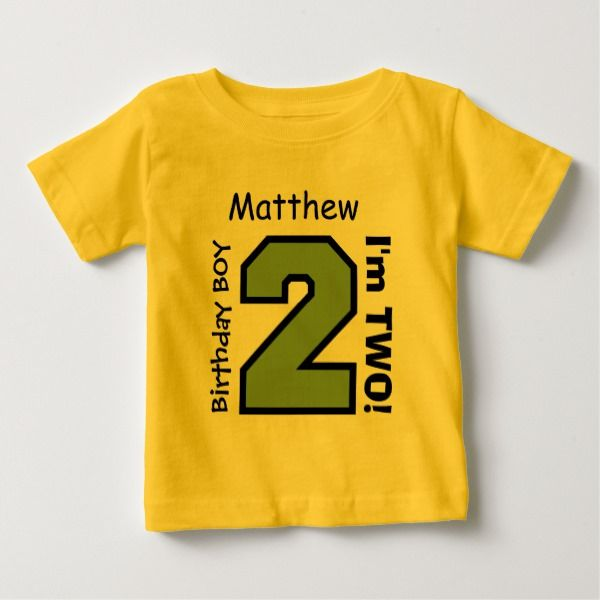 2nd BABY Birthday Big Sports Number A06 Baby T Shirt Kidsclothing Tshirts Age Twoyearold Toddlers Shirts