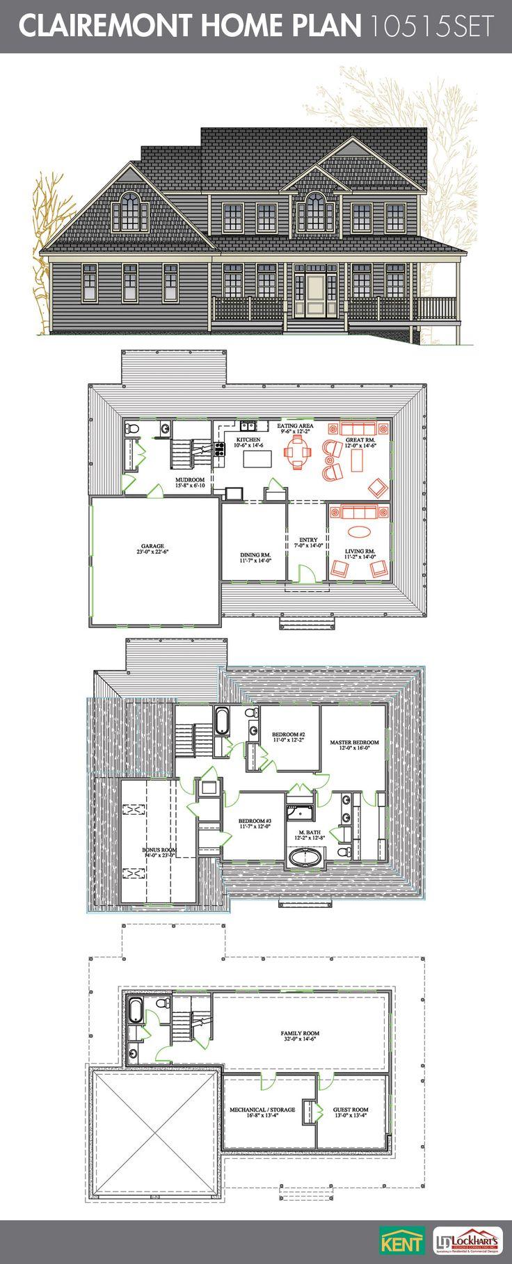 Clairmont 4 bedroom 3 12 bath home plan