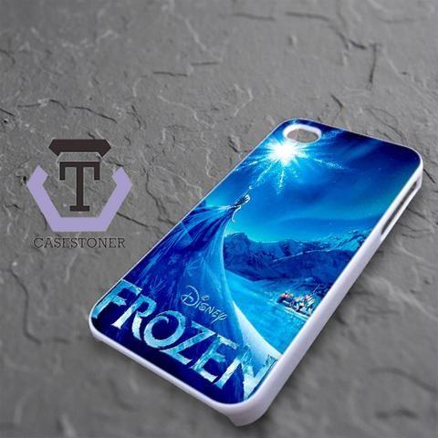 Snow World Blue Frozen Disney iPhone 4|iPhone 4S Black Case