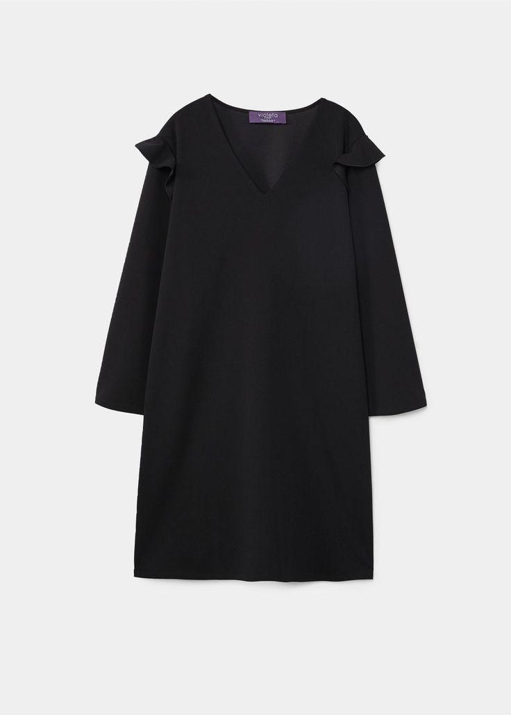 Ruffles flowy dress - Dresses and jumpsuits Plus sizes | Violeta by MANGO USA