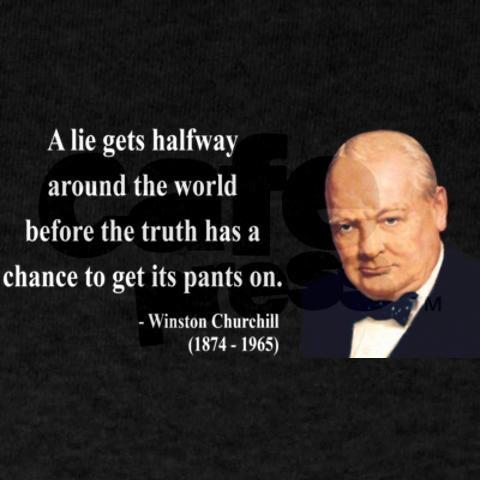 Lie Travels Around World Before Truth