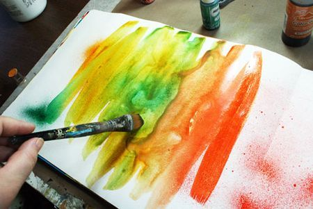5 Backgrounds for Art Journals - Ways to get rid of that awful white page! really good tips
