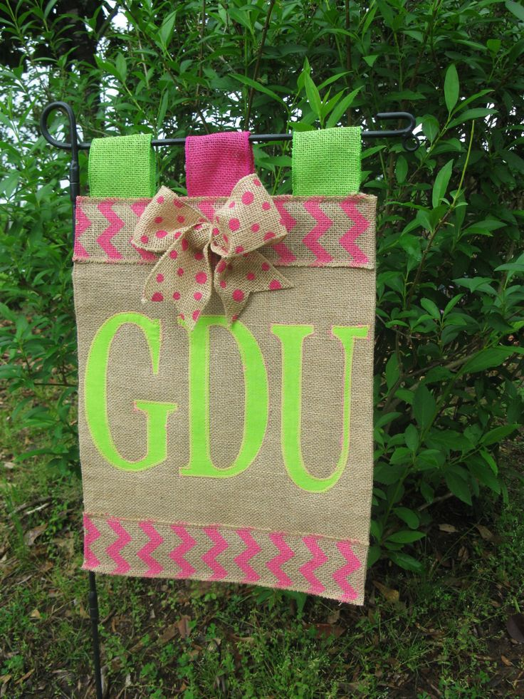 Burlap Initial Garden Flag Custom Garden Flags Chevron Garden Flag Motheru0027s  Day Garden Flag By TallahatchieDesigns