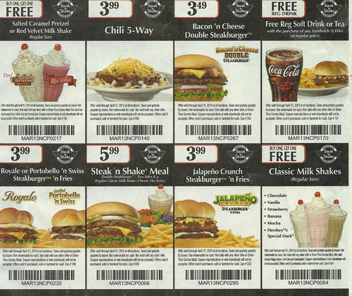 picture about Steak and Shake Coupon Printable identified as Steak shake discount codes - American leather-based purses
