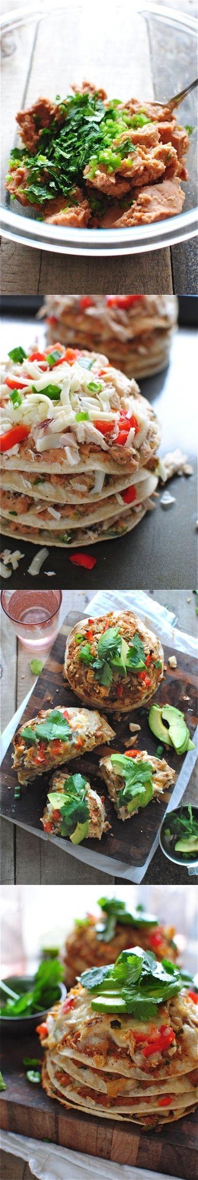 Chicken Taco Stacks Recipe http://www.fazlani.com/