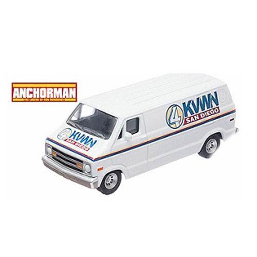 Anchorman Channel 4 KVWN Dodge Van 1:64 Die-Cast Vehicle