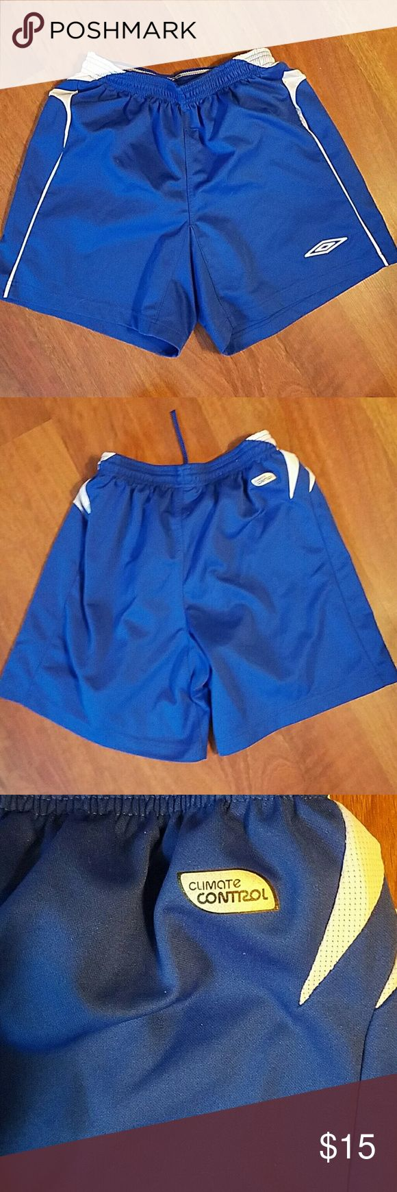 Umbro Climate Control Shorts Size Small Excellent condition but not new. Brand: Umbro SIZE: Small Color: Blue STYLE: Climate Control Umbro Shorts Athletic
